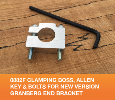 0882F Clamping Boss, Allen Key and Bolts for New version Granberg End Bracket