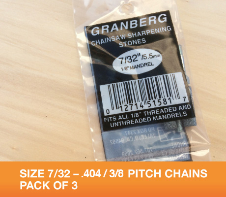 7/32 for 3/8 .404 chains