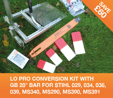 lo pro conversion kit with gb 20 bar for stihl 029, 034, 036, 039, MS340, MS290, MS390, MS391