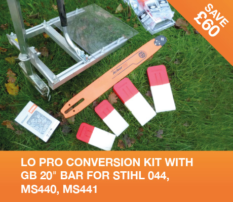 lo pro conversion kit with gb 20 bar for stihl 044, MS440, MS441