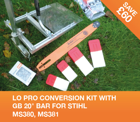 lo pro conversion kit with gb 20 bar for stihl MS380, MS381