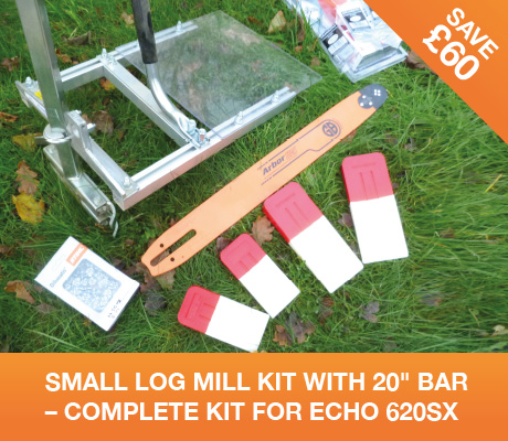 SMALL LOG MILL KIT 20″ BAR – COMPLETE KIT FOR ECHO 620SX