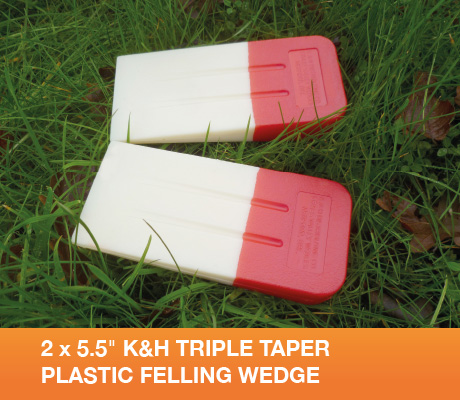 "2 x 5.5"" K&H TRIPLE TAPER PLASTIC FELLING WEDGE"