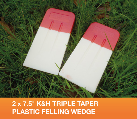 2 x 7.5 k&h triple taper plastic felling wedge