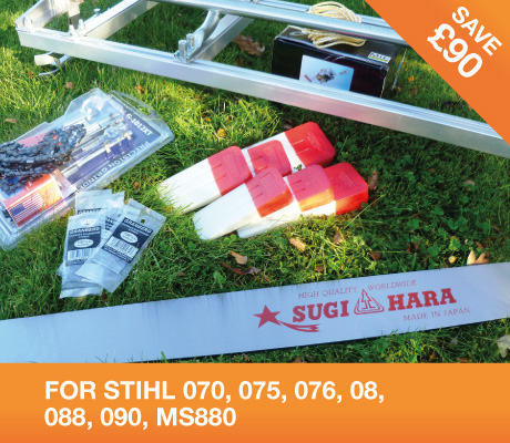 "36"" MILLING KIT with 36"" Sugihara bar – STIHL 070, 075, 076, 08, 088, 090, MS880"