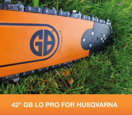 "H-SNHL42-50WR 42"" GB Lo Pro Milling Bar + GB912 Adapter For Husqvarna 181, 185, 281, 285, 288, 372XP, 575XP, 576XP, 390XP, 394XP, 395XP 3/8 Lo Pro .050 137 drive links"