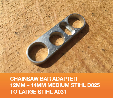 Chainsaw Bar Adapter 12mm - 14mm Medium Stihl D025 to Large Stihl A031