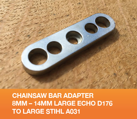 Chainsaw Bar Adapter 8mm – 14mm Large Echo D176 to Large Stihl A031