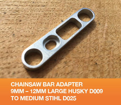 Chainsaw Bar Adapter 9mm - 12mm Large Husky D009 to Medium Stihl D025