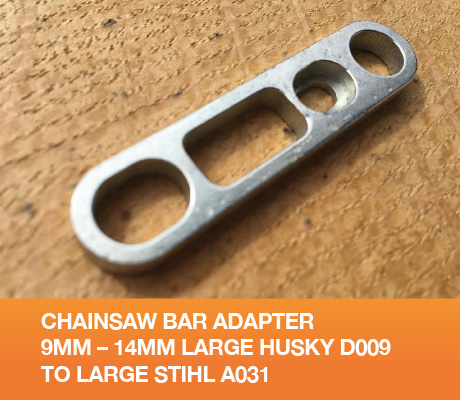 Chainsaw Bar Adapter 9mm – 14mm Large Husky D009 to Large Stihl A031