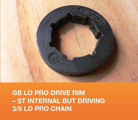 GB LO PRO DRIVE RIM - ST INTERNAL BUT DRIVING 3/8 LO PRO CHAIN