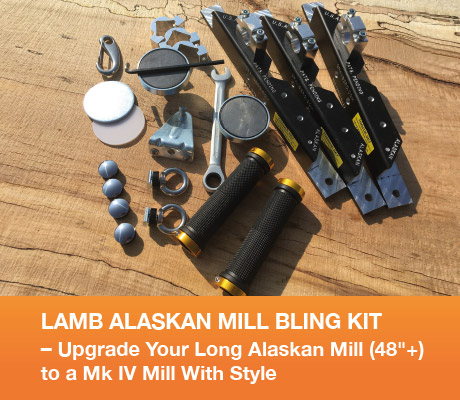 "LAMB ALASKAN MILL BLING KIT – Upgrade Your Long Alaskan Mill (48""+) to a Mk IV Mill With Style"