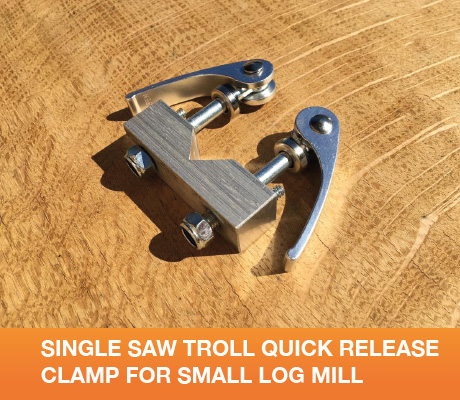 SL-STQR Single SawTroll Quick Release Clamp For Small Log Mill