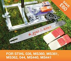 Alaskan Mill chainsaw milling kit